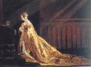 Charles Robert Leslie Queen Victoria in her Coronation Robes oil painting artist