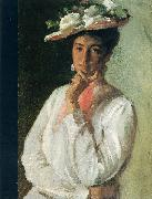 Chase, William Merritt Woman in White oil painting