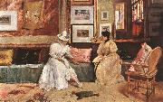Chase, William Merritt A Friendly Visit oil painting