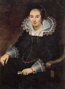 Cornelis de Vos Portrait of a Lady with a Fan oil