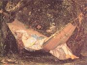 Courbet, Gustave The Hammock oil painting picture wholesale
