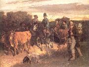 Courbet, Gustave The Peasants of Flagey Returning from the Fair Germany oil painting reproduction