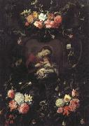 Daniel Seghers Garland of Flowers,with the Virgin and Child oil painting picture wholesale