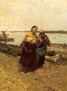 Deak-Ebner, Lajos Boat Warpers oil painting picture wholesale