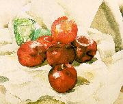 Demuth, Charles Still Life with Apples and a Green Glass oil painting picture wholesale