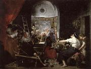 Diego Velazquez The Spinners or The Fable of Arachne oil painting picture wholesale