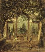 Diego Velazquez View of the Garden of the Villa Medici in Rome II oil painting picture wholesale