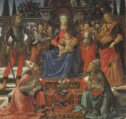 Domenico Ghirlandaio Madonna and Child Enthroned with Four Angels,the Archangels Michael and Raphael,and SS.Giusto and Ze-nobius oil painting picture wholesale