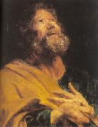 Dyck, Anthony van The Penitent Apostle Peter oil