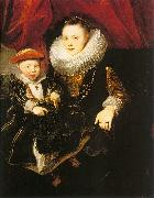 Dyck, Anthony van Young Woman with a Child oil