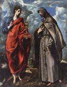 El Greco SS.John the Evangelist and Francis oil painting picture wholesale