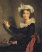 Elisabeth-Louise Vigee-Lebrun Self-Portrait oil