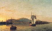 Fitz Hugh Lane Camden Mountains from the South Entrance to the Harbor oil painting artist