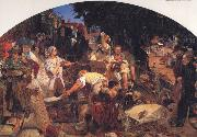 Ford Madox Brown Chaucer at the Curt of Edward III oil painting picture wholesale