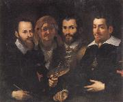 Francesco Vanni Self-Portrait with Parents and Half-brother oil painting artist