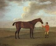 Francis Sartorius The Racehorse 'Basilimo' Held by a Groom on a Racecourse oil painting picture wholesale