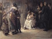 Frank Holl Newgate-Committed for trial oil painting picture wholesale