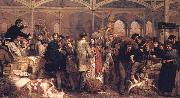 George Elgar Hicks Billingsgate Fish Market oil painting picture wholesale