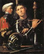 Giorgione Portrait of a Man in Armor with His Page oil painting picture wholesale