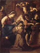 Giovanni Francesco Barbieri Called Il Guercino The Vistion of St.Francesca Romana oil painting artist