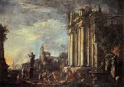 Giovanni Ghisolfi Landscape with Ruins and a Sacrificial Srene oil painting picture wholesale
