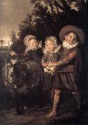 HALS, Frans Three Children with a Goat Cart oil painting picture wholesale