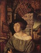 HOLBEIN, Ambrosius Portrait of a Gentleman oil painting artist