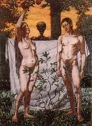 Hans Thoma Adam and Eve oil painting picture wholesale