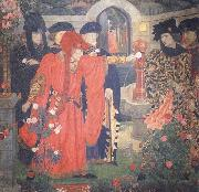 Henry Arthur Payne Plucking the Red and White Roses in the Old Temple Gardens oil painting picture wholesale