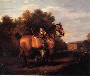 Henry Walton A Gentleman,Said to Be mr Richard Bendyshe with his Favorite Hunter in a Landscape oil painting picture wholesale