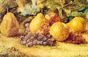 Hill, John William Apples, Pears, and Grapes on the Ground oil painting picture wholesale