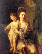Hone, Nathaniel Anne Gardiner with her Eldest Son Kirkman oil painting picture wholesale