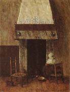 Jacobus Vrel An Old Woman at he Fireplace oil painting artist