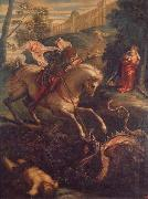 Jacopo Tintoretto St.George and the Dragon oil painting artist