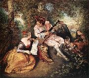 Jean-Antoine Watteau The Love Song oil painting picture wholesale