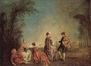 Jean-Antoine Watteau An Embarrassing Proposal oil painting picture wholesale