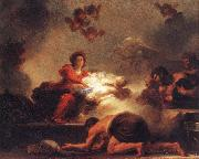 Jean-Honore Fragonard Adoration of the Shepherds oil painting reproduction