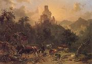 Johann Nepomuk Rauch Landscape with Ruins oil painting artist