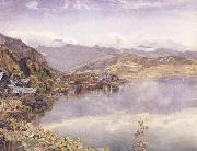 John William Inchbold The Lake of Lucerne,Mont Pilatus in the Distance oil painting artist