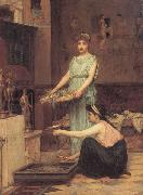 John William Waterhouse The Household Gods oil painting picture wholesale