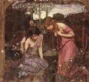 John William Waterhouse Study for Nymphs finding the Head of Orpheus oil painting picture wholesale