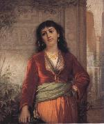 John William Waterhouse The Unwelcome Companion-A Street Scene in Cairo oil painting picture wholesale