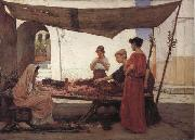 John William Waterhouse The flower Stall oil painting picture wholesale