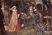 John William Waterhouse The Enchanted Garden oil painting picture wholesale