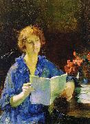 Jones, Francis Coates Woman Reading oil painting artist