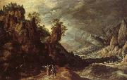 KEUNINCK, Kerstiaen Landscape wiht Tobias and the Angle oil painting artist