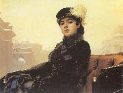 Kramskoy, Ivan Nikolaevich Portrait of a Woman oil painting picture wholesale