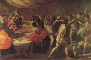 LANFRANCO, Giovanni Banquet with a Gladiatorial Contest oil painting picture wholesale