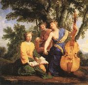 LE SUEUR, Eustache The Muses: Melpomene, Erato and Polymnia oil painting picture wholesale