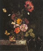 Lachtropius, Nicolaes Flowers in a Gold Vase oil painting picture wholesale